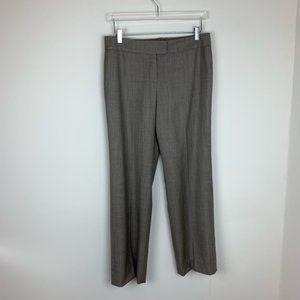 Escada Wool Silk Wide Leg Pants Brown Size EU 38